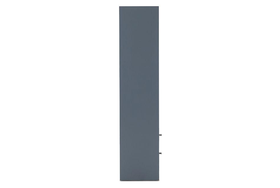 Delray Dark Gray Open Bookcase,  (3)