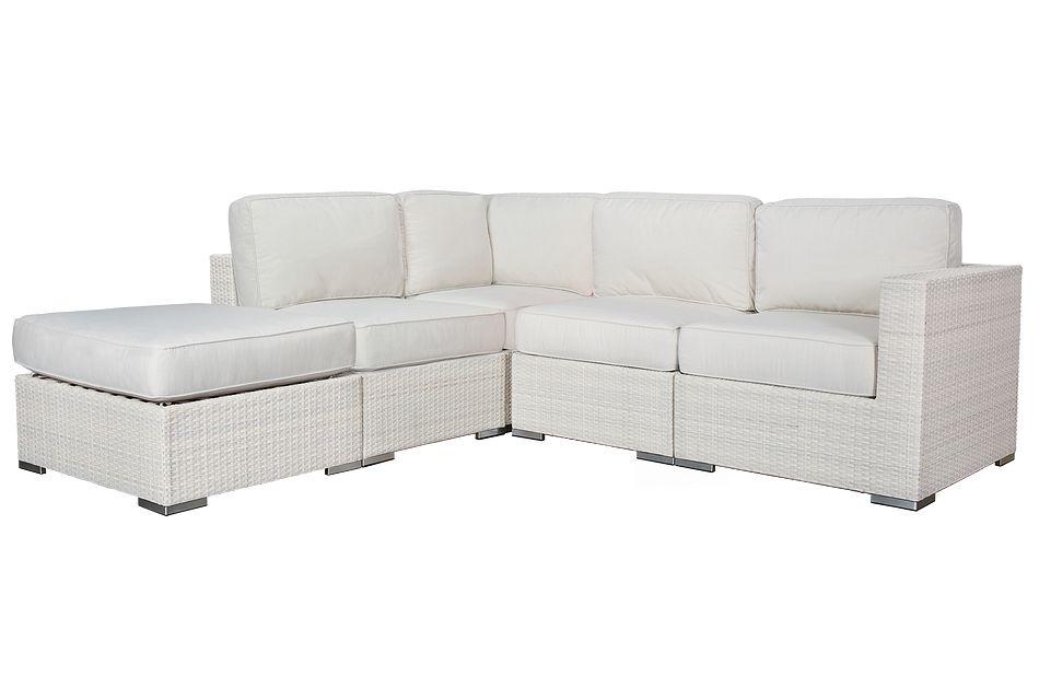 Biscayne White 5-piece Modular Sectional