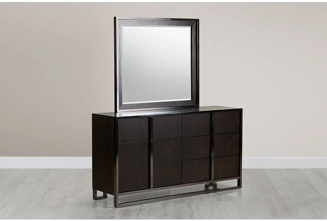 Tribeca Dark Tone Dresser & Mirror