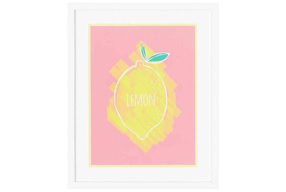 Lemony Multicolored Framed Wall Art