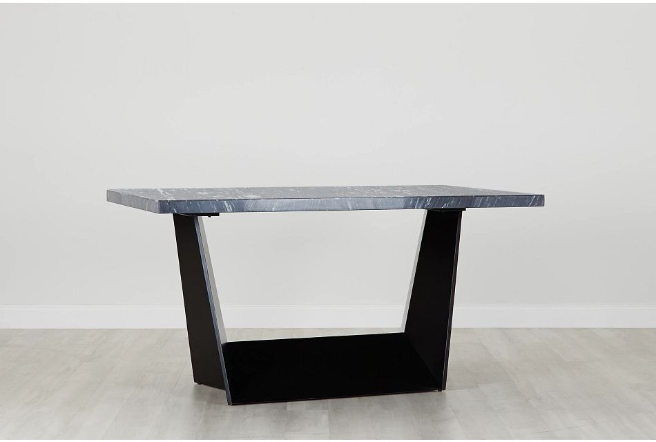 Auburn Dark Gray Marble High Dining Table, %%bed_Size%% (0)