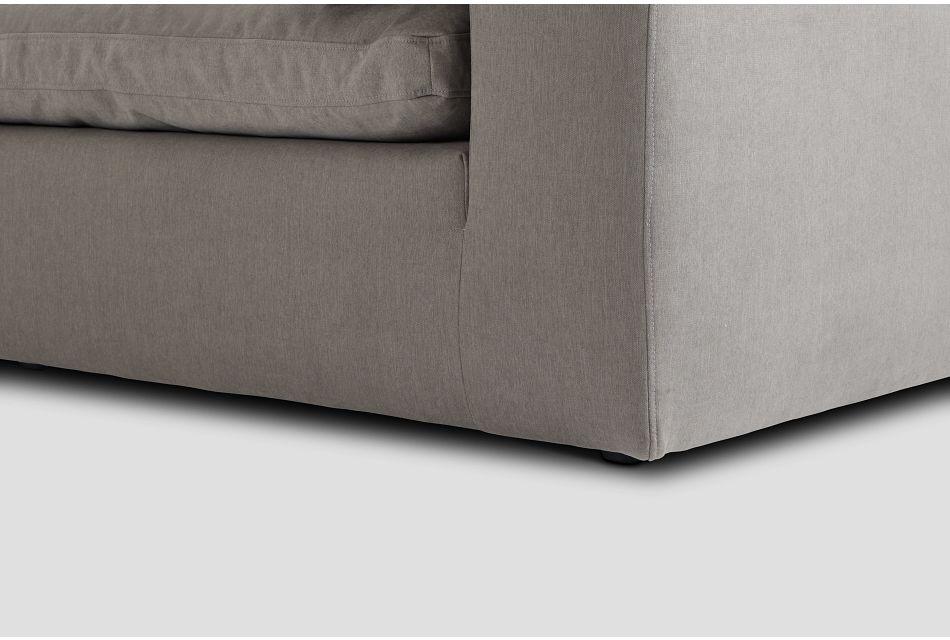 Nixon Light Gray Fabric 4-piece Modular Sectional