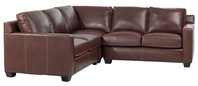 Carson Medium Brown Leather Small Two-arm Sectional (0)