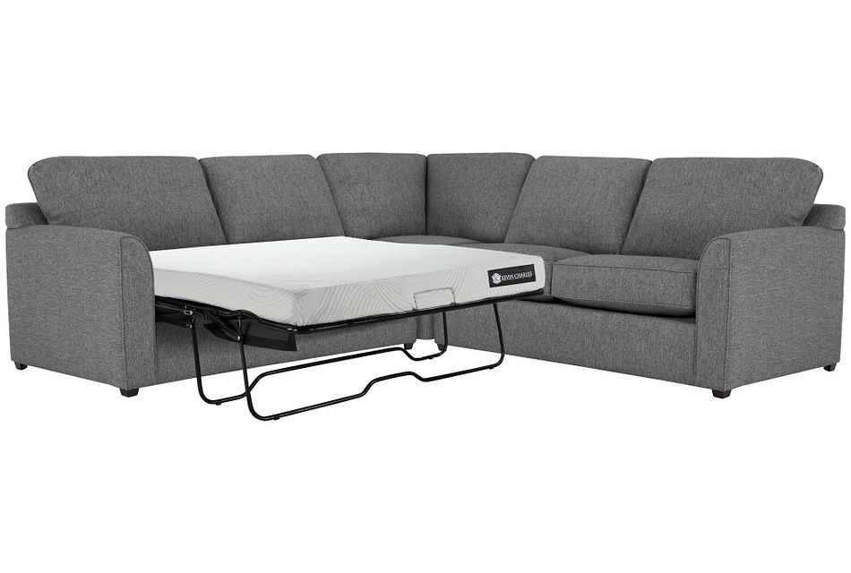 Asheville Gray Cool Mfoam Two-arm Left Memory Foam Sleeper Sectional
