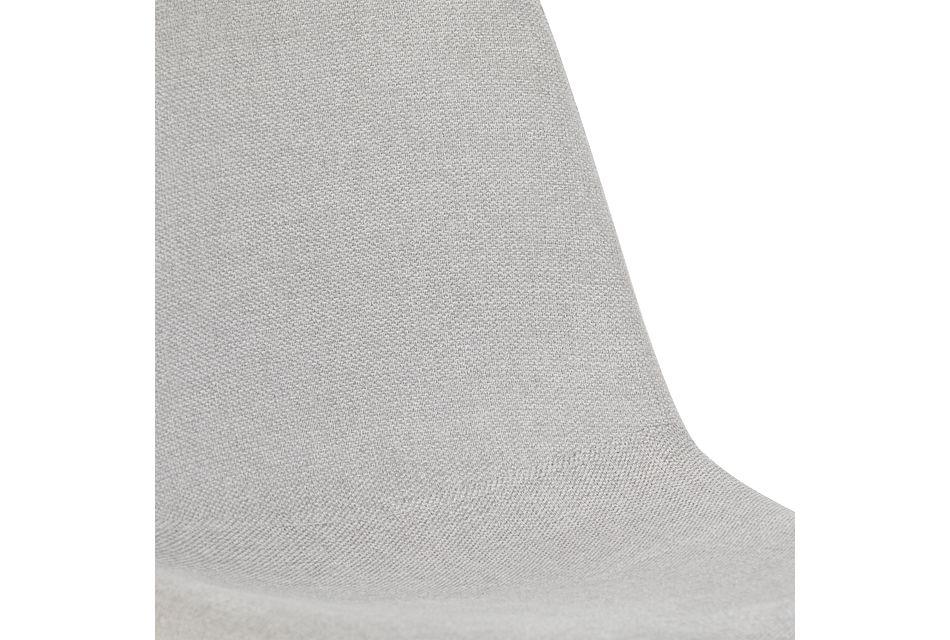 Havana Light Gray Upholstered Side Chair W/ Chrome Legs