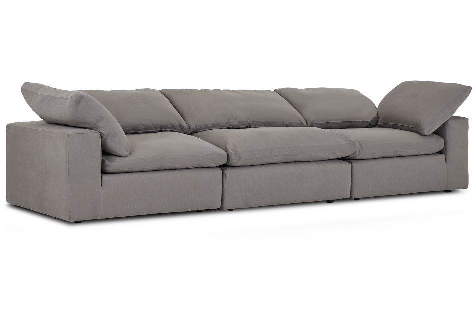 Nixon Light Gray Fabric 3 Piece Modular Sofa,  (2)