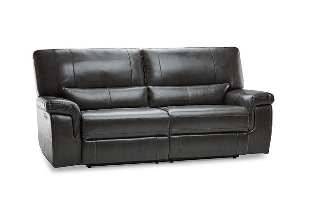 Weston Dark Gray Lthr/vinyl Power Reclining Sofa (2)
