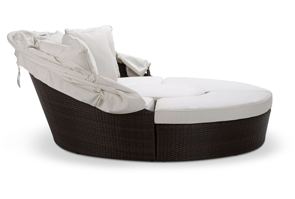 Fina White Canopy Daybed,  (2)