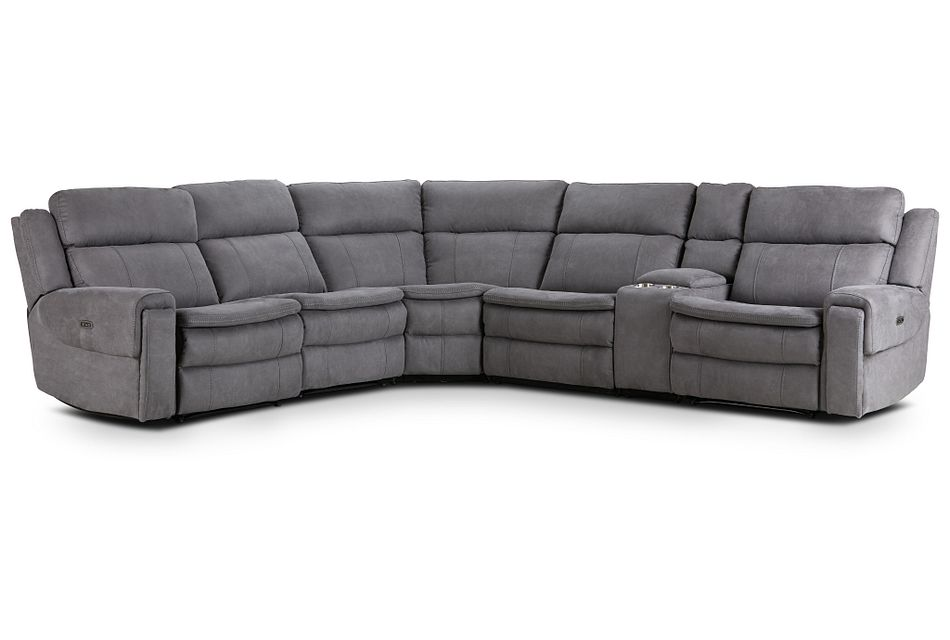 Scout Gray Micro Medium Dual Power Sectional