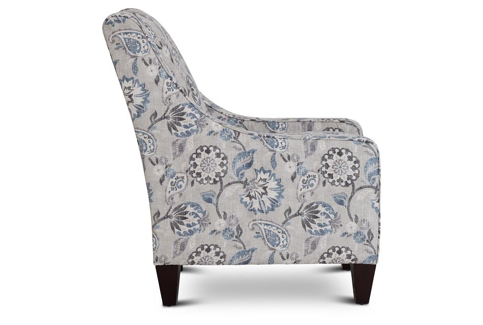 Sylvie Blue Floral Accent Chair,  (2)