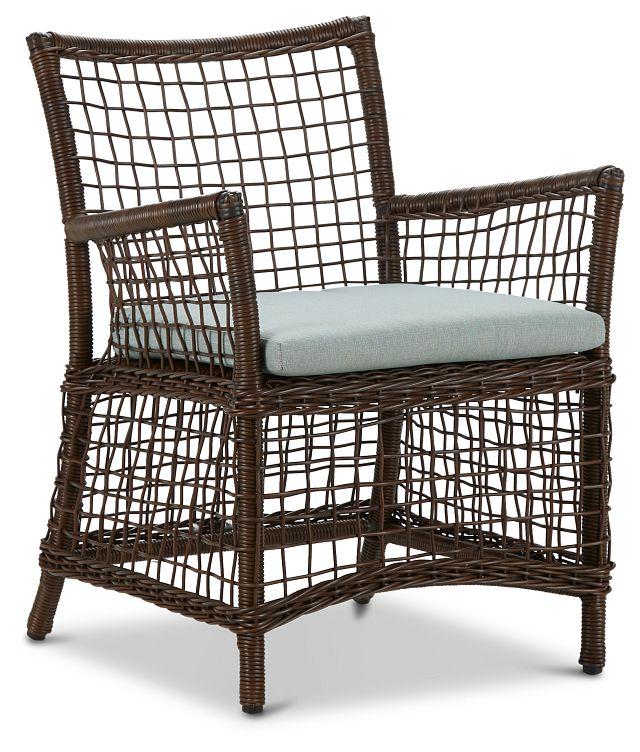 Southport Teal Woven Arm Chair (0)
