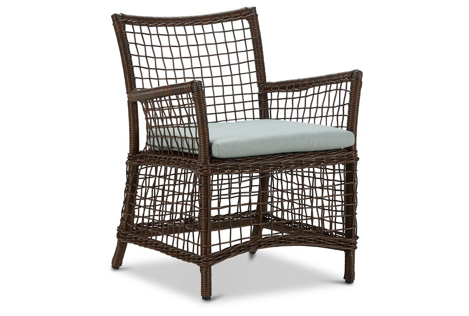 Southport Teal Woven Arm Chair