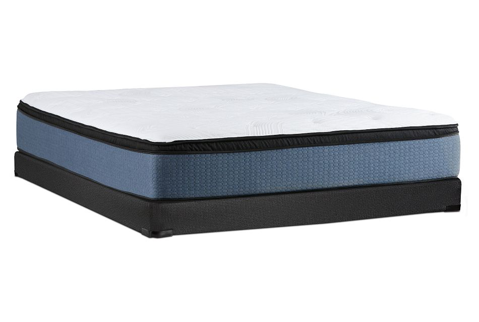 Kevin Charles Daytona Plush Euro Top Low-profile Mattress Set
