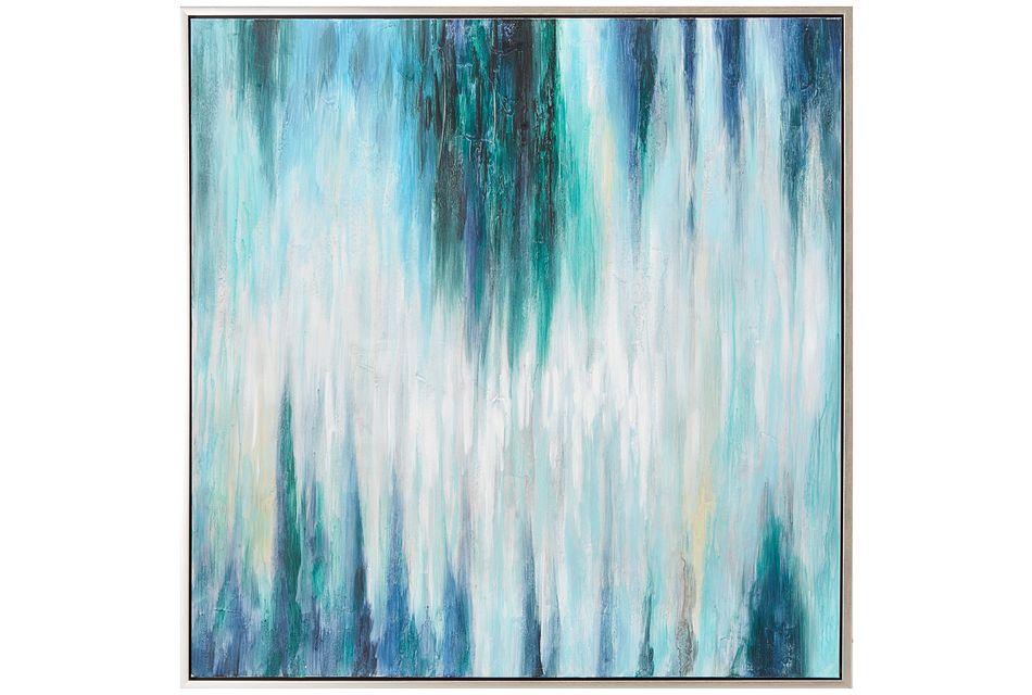 Breeze Blue Framed Canvas Wall Art