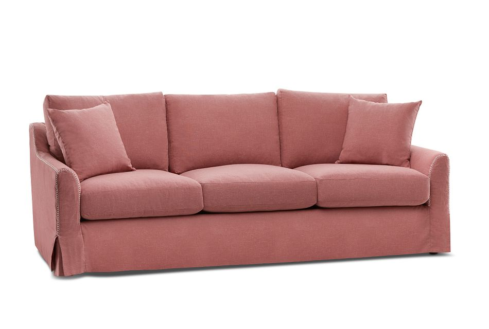 Madelyn Red Fabric Sofa