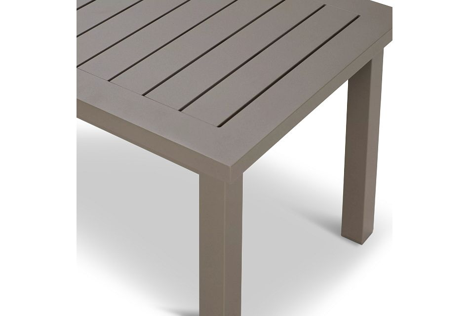 Raleigh Taupe Aluminum End Table