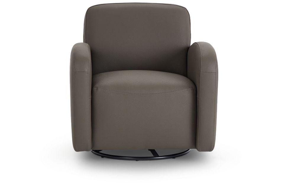 Axis Dark Gray Vinyl Swivel Accent Chair,  (3)