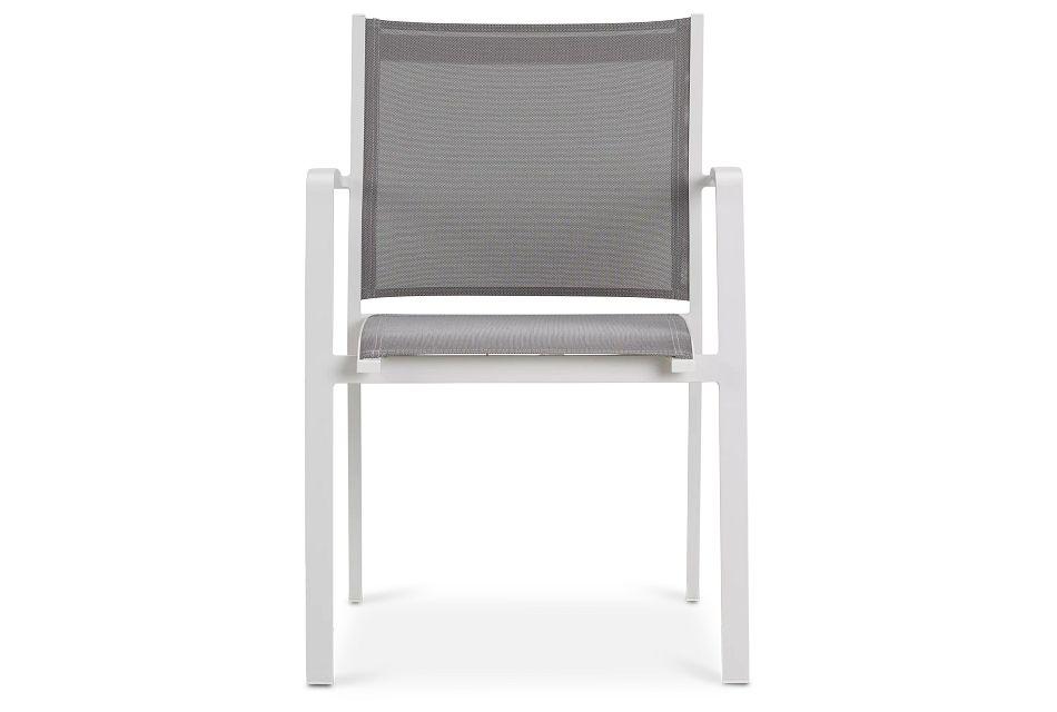 Lisbon Gray Sling Chair,  (2)