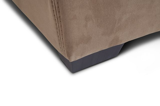 Perry Dark Taupe Micro Cocktail Ottoman