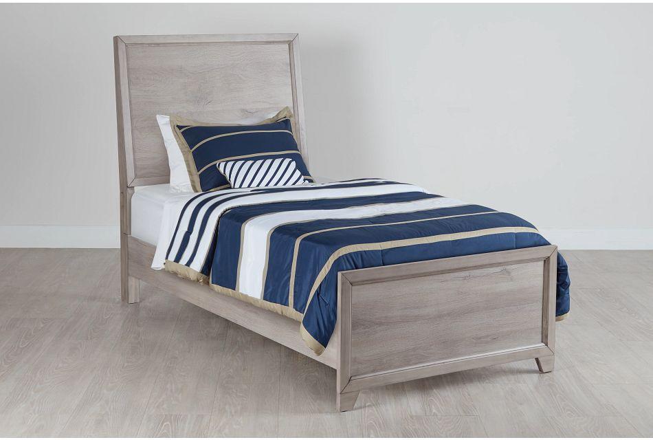 Rivercreek Gray Wood Panel Bed