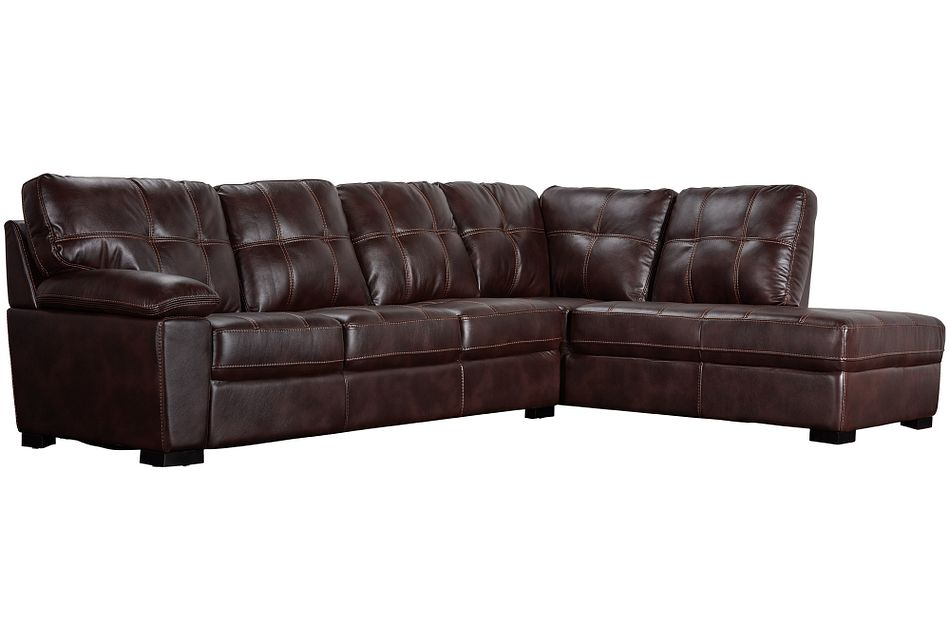 Henry Dark Brown Micro Right Bumper Sectional