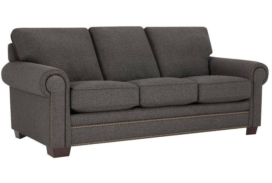 Foster Dark Brown  Fabric Sofa,  (1)
