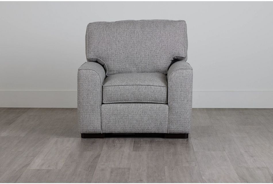 Austin Gray Fabric Chair,  (0)