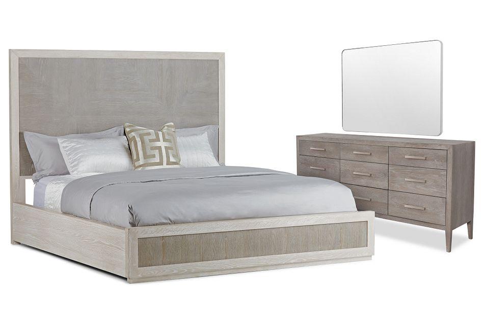 Berlin Two-tone Wood Platform Bedroom
