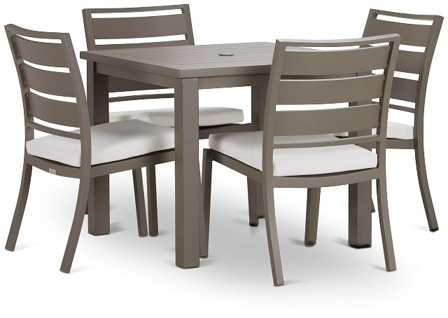 """Raleigh White 35"""" Square Table & 4 Cushioned Chairs (0)"""