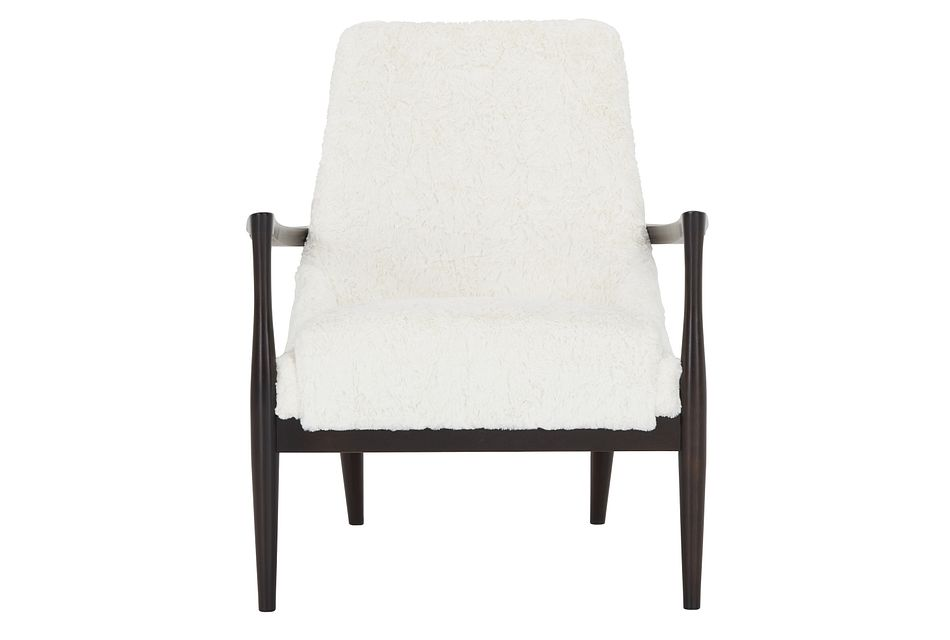 Noland White Fabric Accent Chair