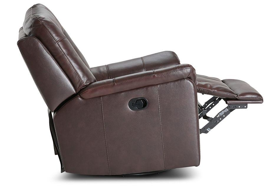 Owen Brown Leather Swivel Glider Recliner