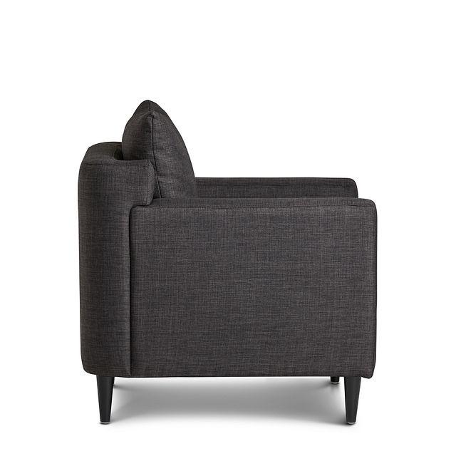 Novara Dark Gray Fabric Accent Chair (1)