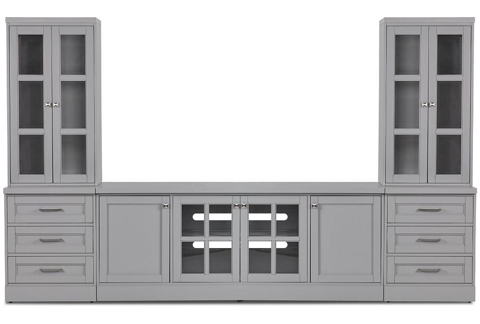 Newport Gray Medium Drawer Entertainment Wall
