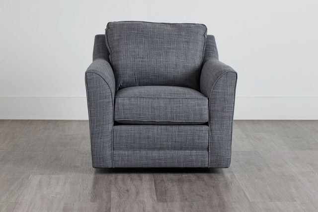 Charlie Gray Fabric Swivel Accent Chair (0)