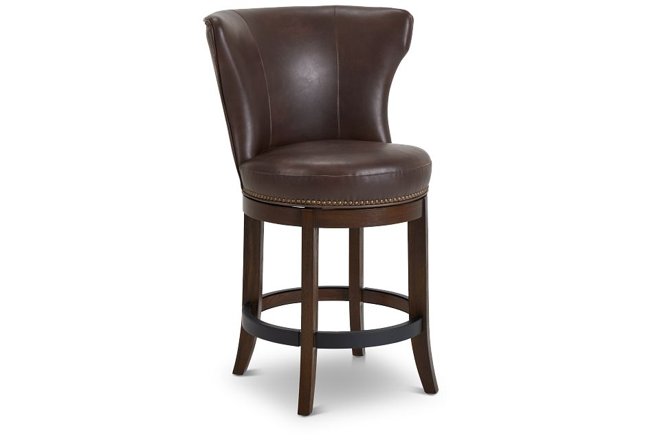 "Cayden Brown Micro 24"" Swivel Barstool"