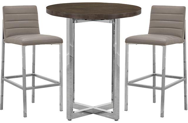 Amalfi Taupe Wood Pub Table & 2 Upholstered Barstools (0)