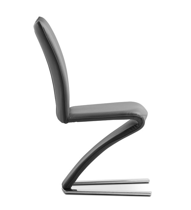 Catalina Dark Gray Upholstered Side Chair (2)