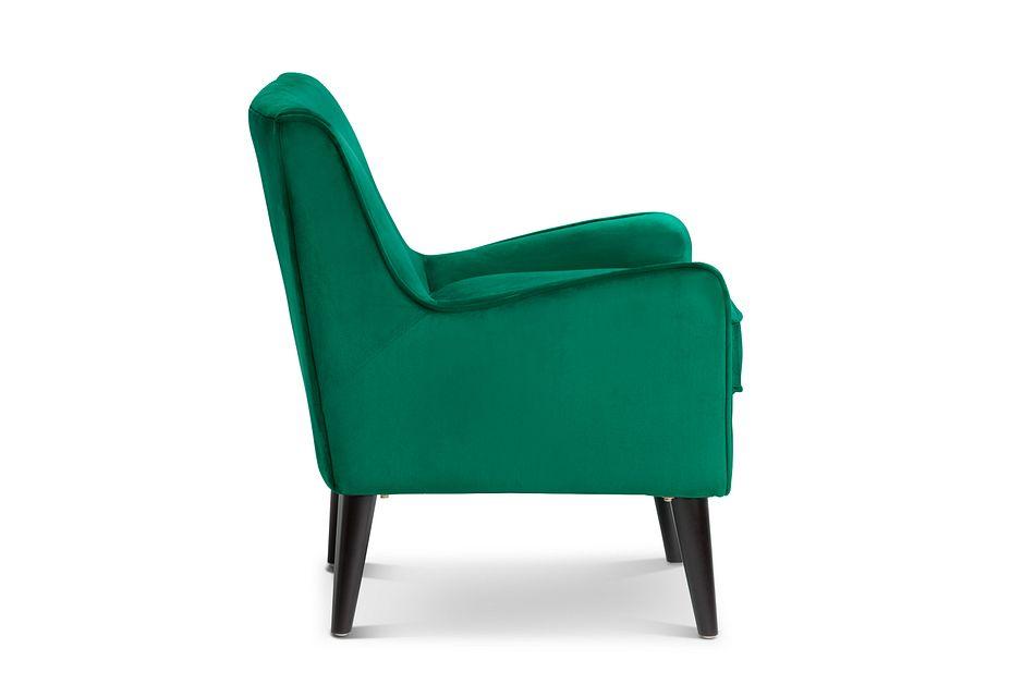 Angie Dark Green  Velvet Accent Chair,  (2)