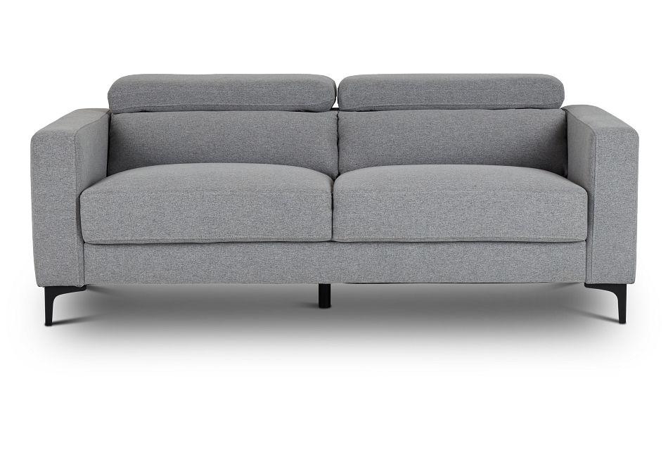 Trenton Light Gray Fabric Sofa,  (1)