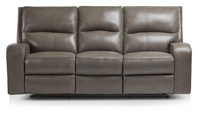 Declan Dark Gray Lthr/vinyl Power Reclining Sofa (0)