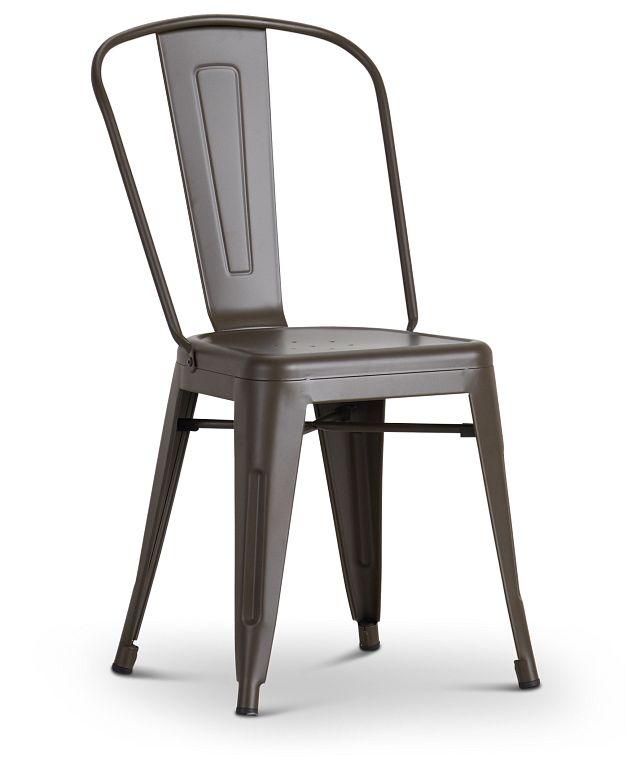 Harlow Dark Tone Metal Side Chair (1)