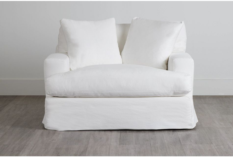 Delilah White Fabric Chair,  (0)
