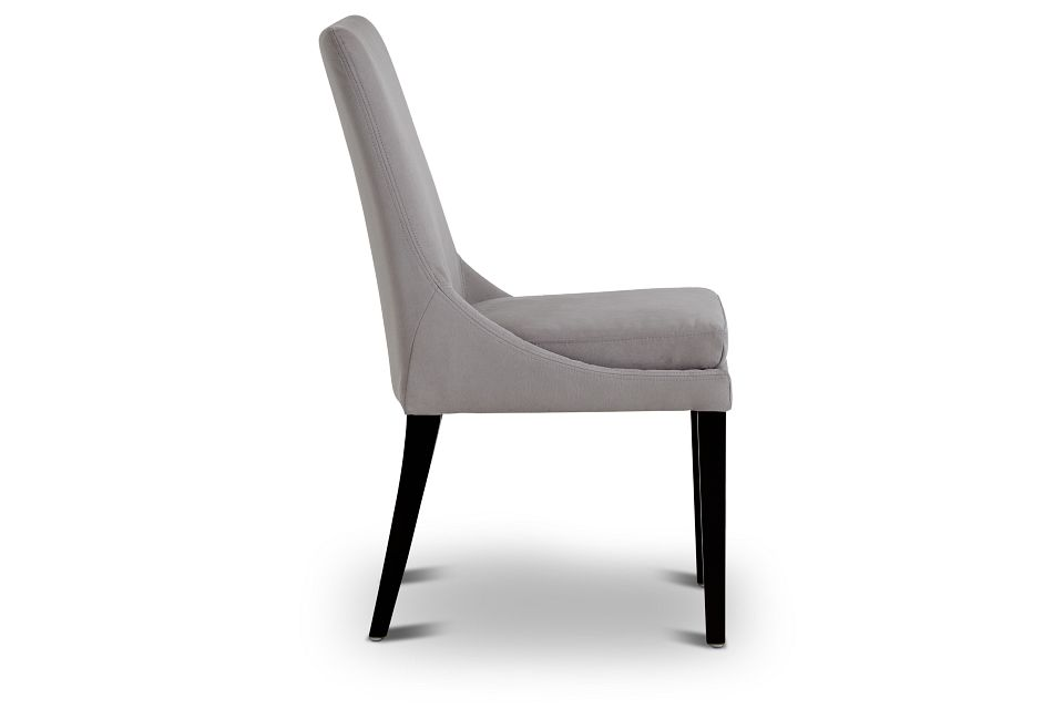 Tito Light Gray Upholstered Side Chair,  (2)