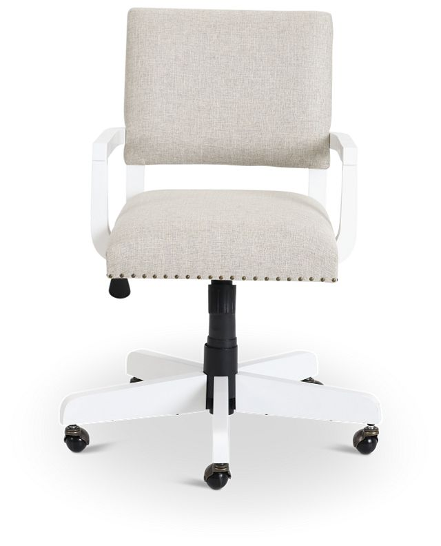 Newport Beige Wood Upholstered Desk Chair (3)
