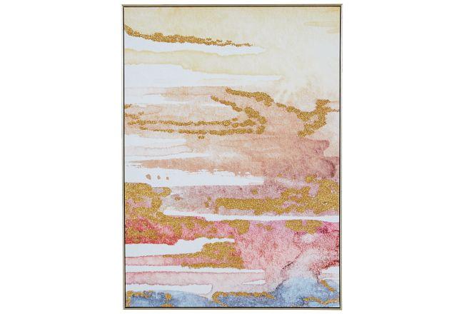 Kyra Orange Canvas Framed Wall Art
