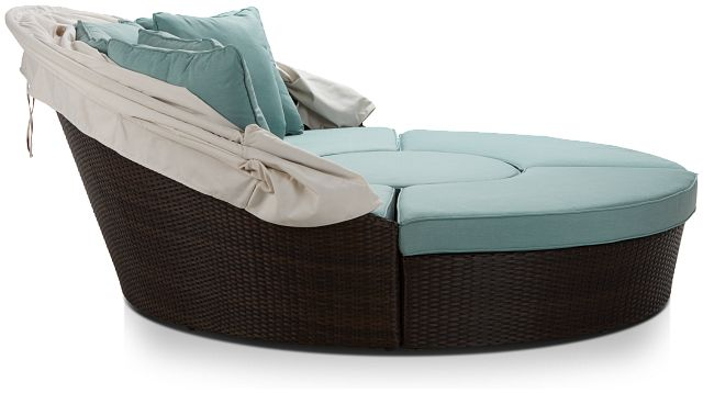 Fina Teal Canopy Daybed (1)