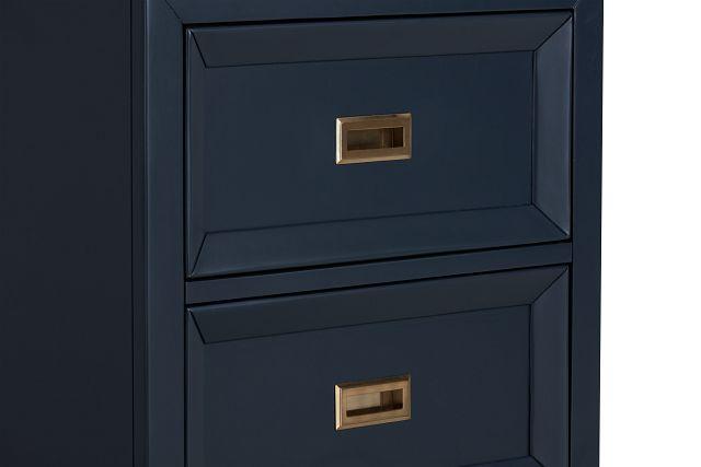 Ryder Dark Blue 2-drawer Nightstand (0)