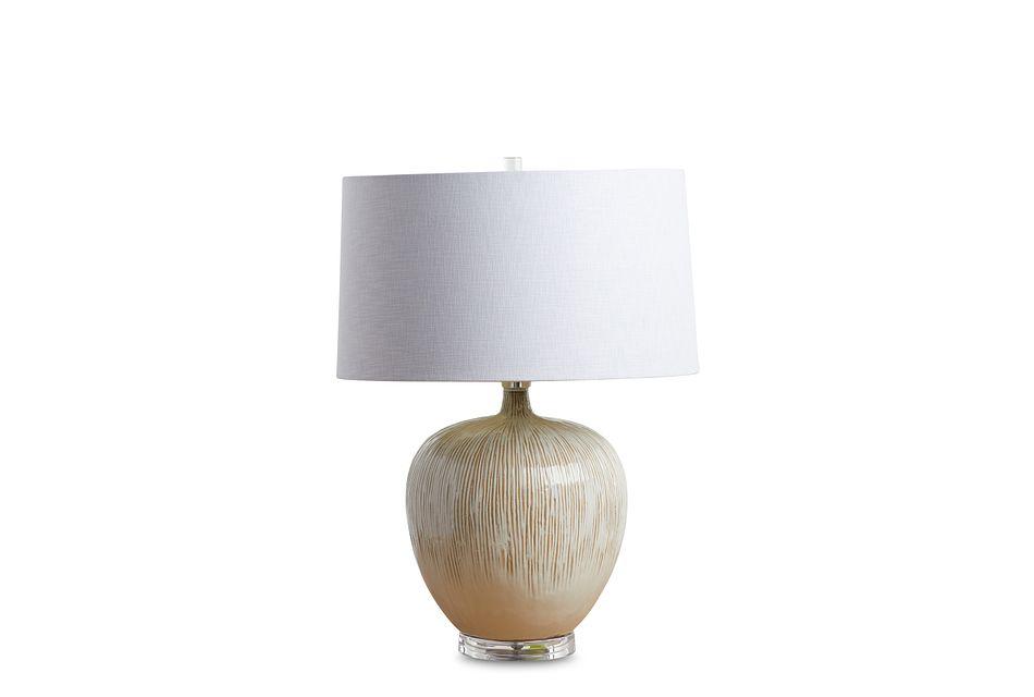 Arcadia Light Beige Table Lamp