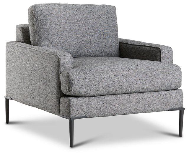 Morgan Dark Gray Fabric Chair With Metal Legs (1)