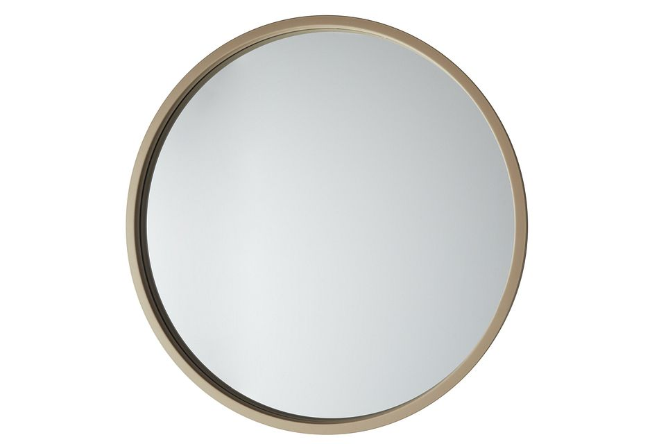 Era Gold Round Mirror